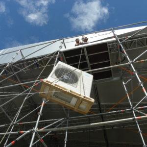 Подъем на высоту наружного блока кассетного кондиционера