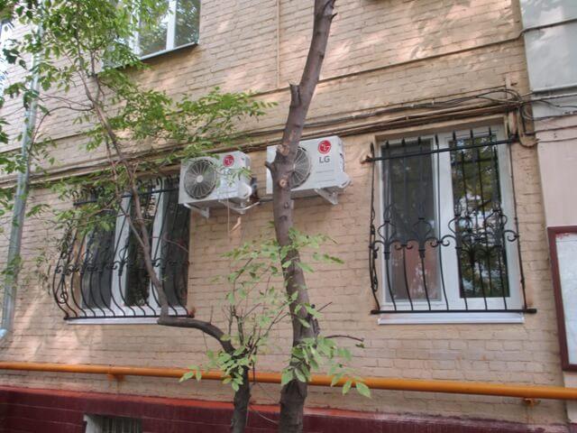 Монтаж системы кондиционирования в квартире на Павелецкой
